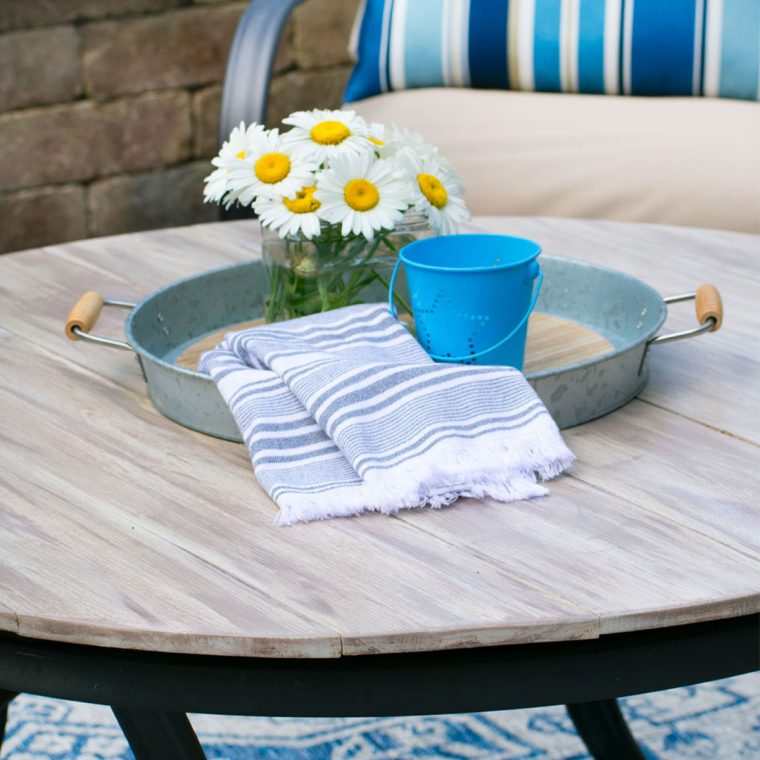How to build a round wood plank tabletop for your outdoor patio furniture.