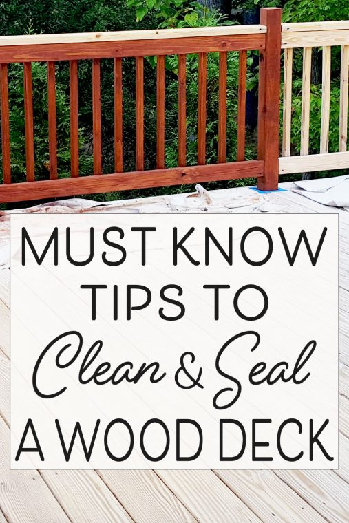 How to clean and seal a wood deck.