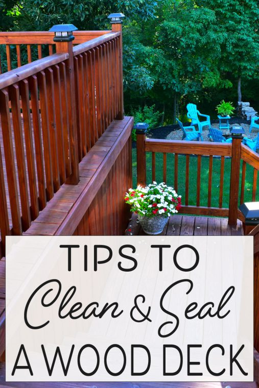 Tips for sealing and staining a wood deck.
