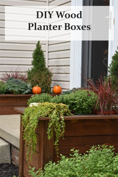 Large Wood Planter Boxes