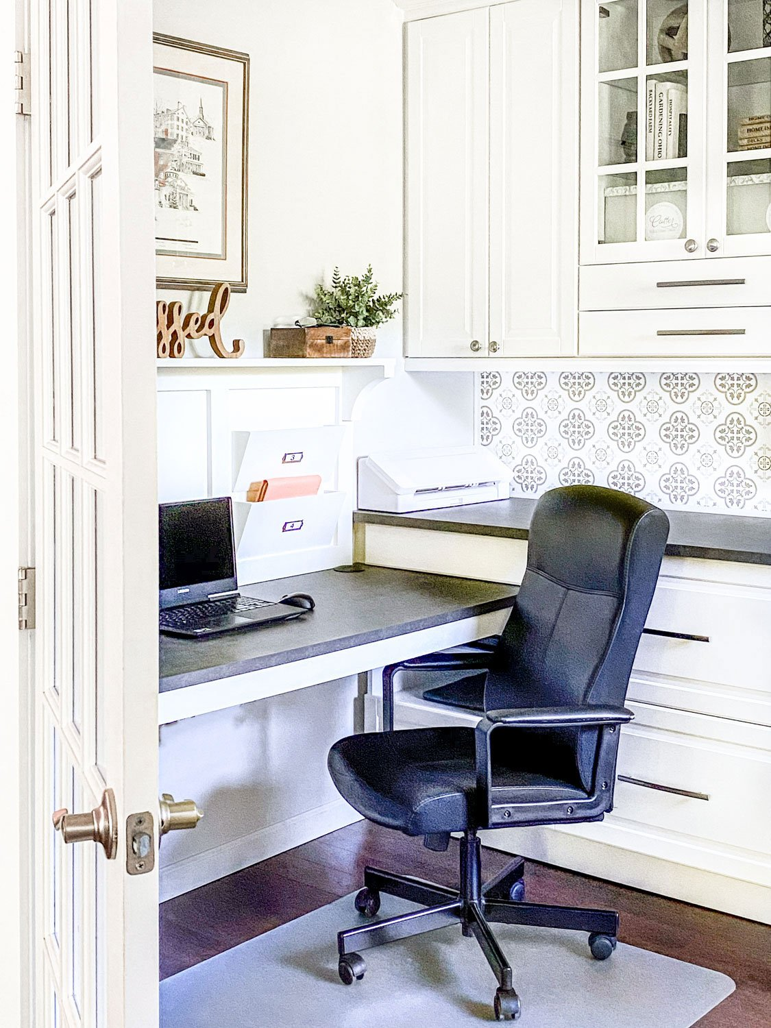 Built In Home Office Design Using Ikea Sektion Cabinets