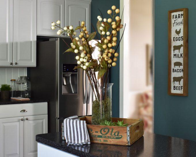 Fall Home Decor, Fall Kitchen Decor, Farmhouse Kitchen Decor