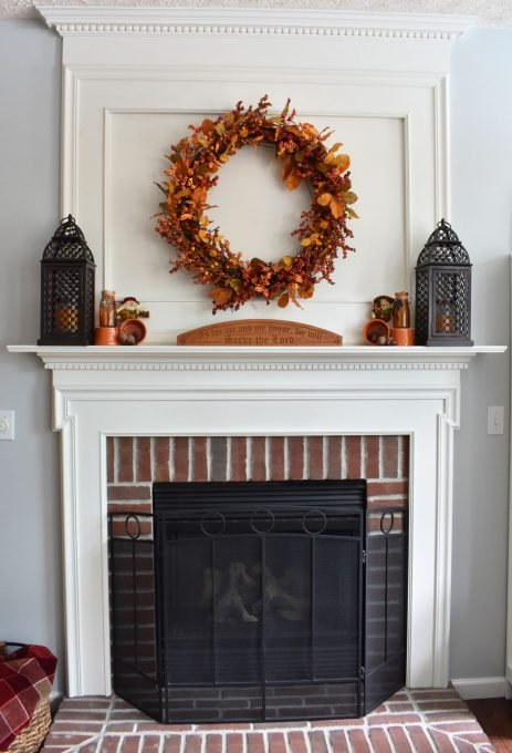 Fall Home Decor, Fall Mantel, Fall Fireplace, Fall Decor