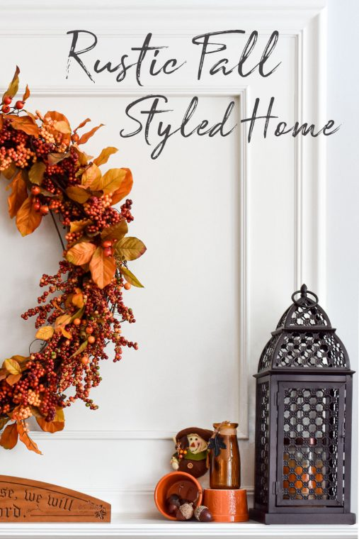 Rustic fall decor ideas for your home.