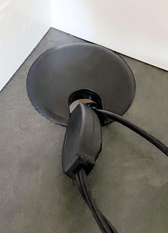 Cord control for Ikea Desk