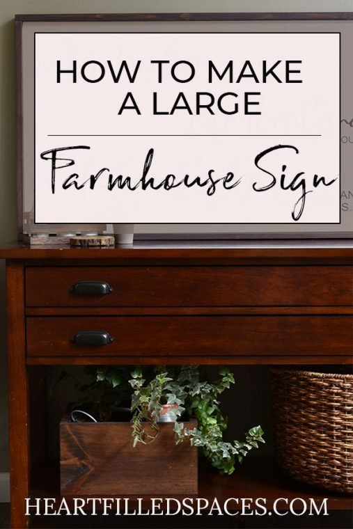 DIY Farmhouse Scripture Sign