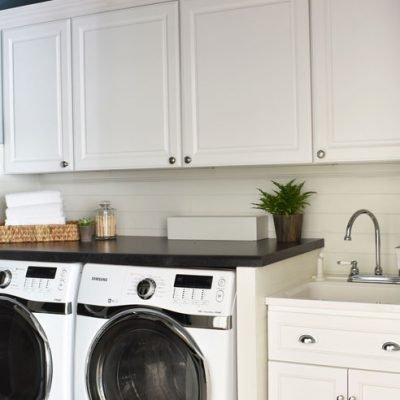 Shiplap Laundry Room Reveal