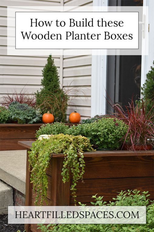 DIY Wooden Outdoor Planter Boxes