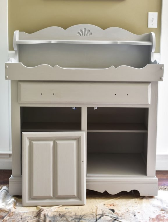 Gray Painted Dry Sink