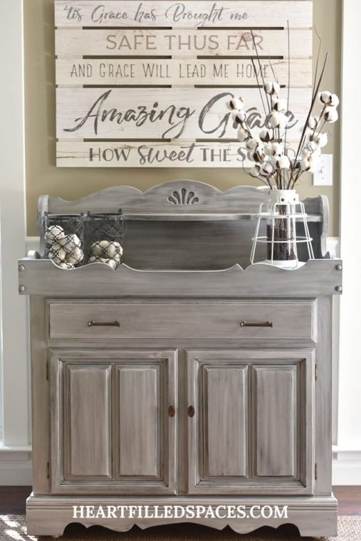 Refinished Dry Sink with Chalk Paint |