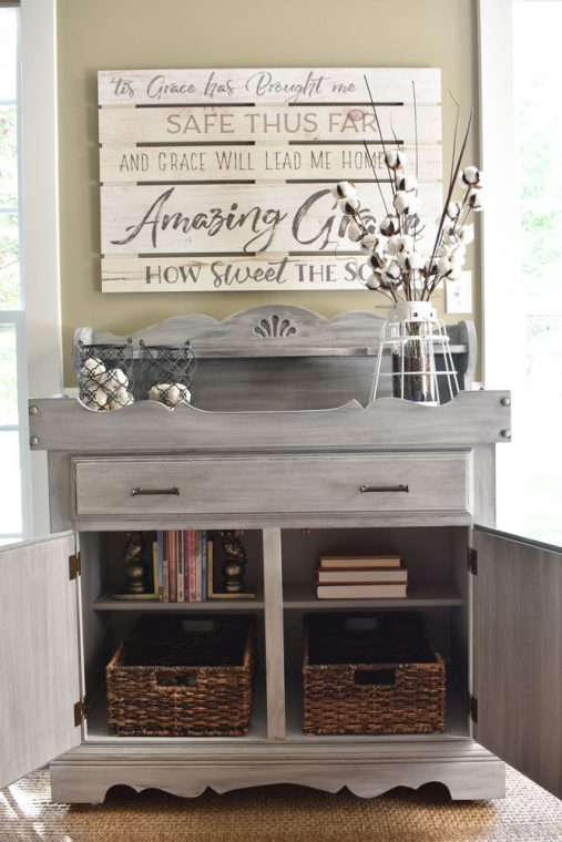 Open Gray Dry Sink