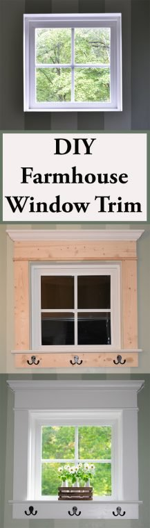 DIY Farmhouse Window Trim Process