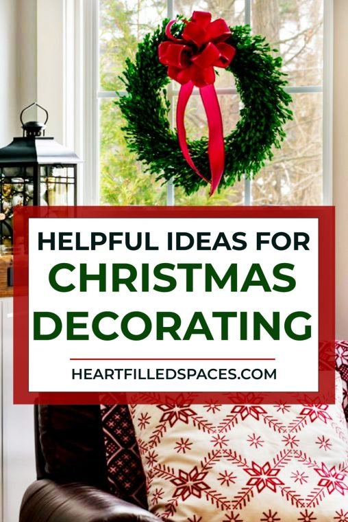 Simple solutions to hang your Christmas decor, includes wreaths, garland, and ornaments.
