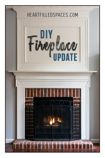 DIY Fireplace Update Overmantel