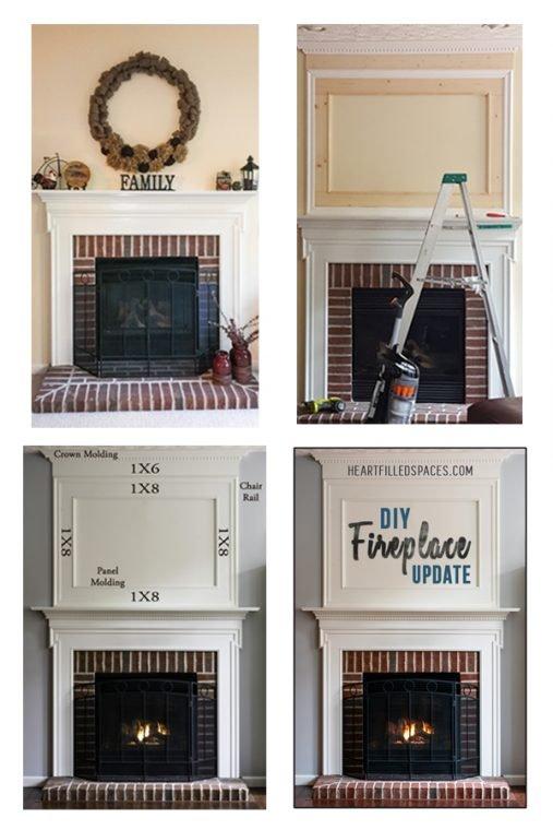 DIY Fireplace Update Overmantel