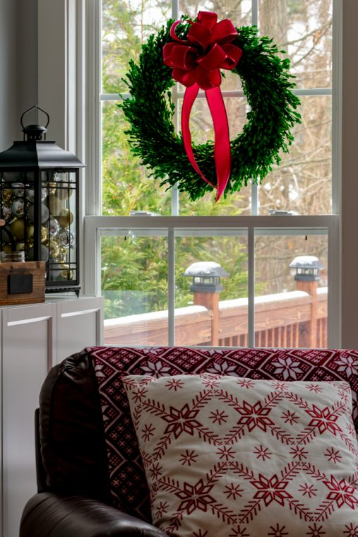 Five Simple Indoor Christmas and Holiday DIY Decorating Tips and Ideas for the Staircase, Fireplace, Mantle, Window, Tree and Garland.