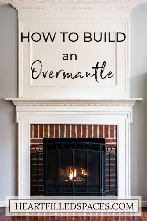 How to build a white wood Fireplace Overmantle.