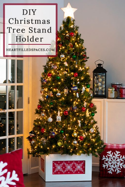 Red and White Christmas Tree Stand Holder