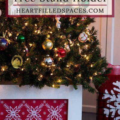 DIY Christmas Tree Stand Holder