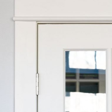 I Finished Updating My French Doors That Lead From Living Room To Our Home Office This Post Is How Remove And Update Builder Grade Door Casing
