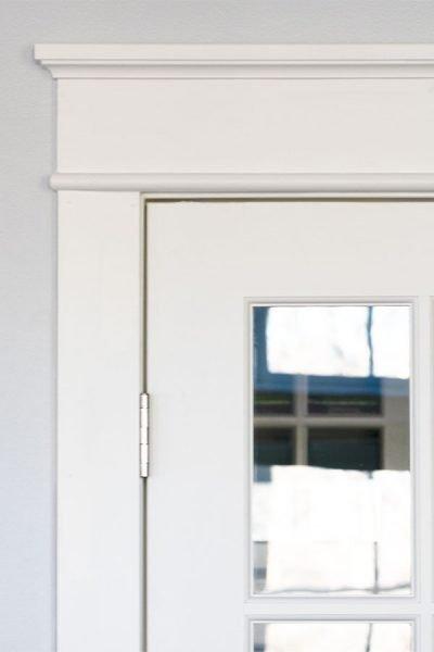 DIY French Door Molding Update