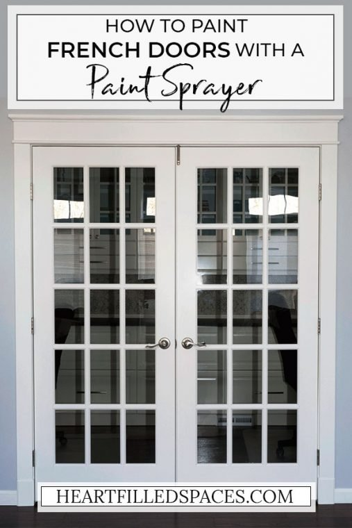 How to paint french doors.