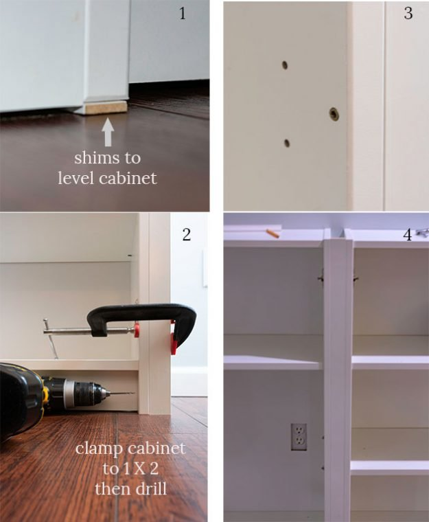 Tips to install DIY built in bookcases.