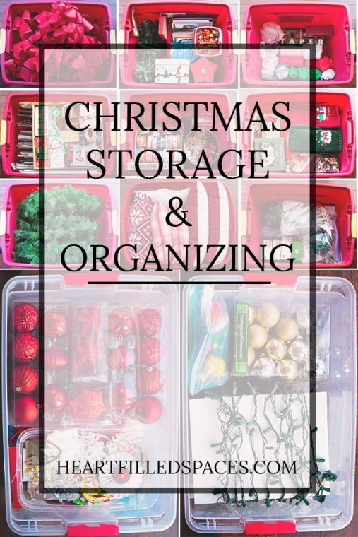 Tips to store Christmas decorations at the end of the holiday season.