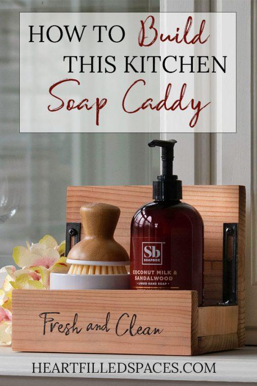 Cedar Wood Kitchen Soap Caddy