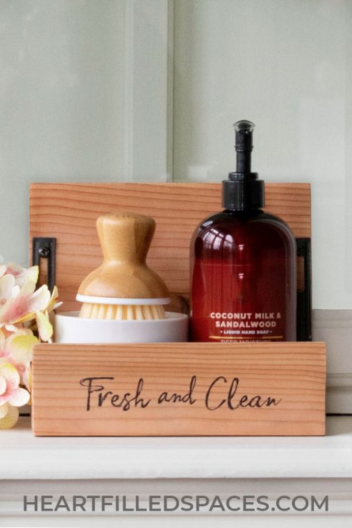 Cedar Wood Kitchen Soap Caddy