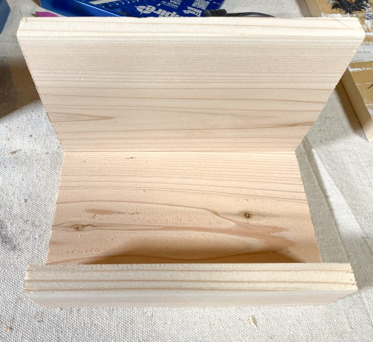 Dry fit the soap caddy together before assembling it.