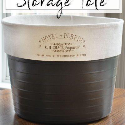 DIY Storage Tote
