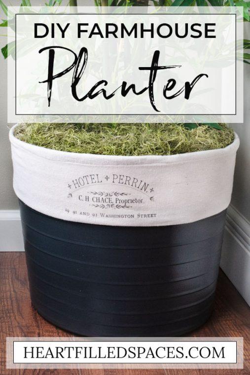 DIY Farmhouse Planter