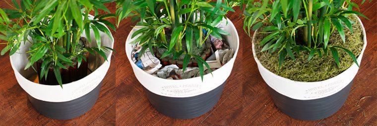 How to re-pot a faux plant.