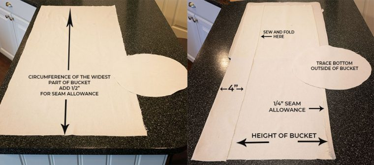 How to sew a storage liner.