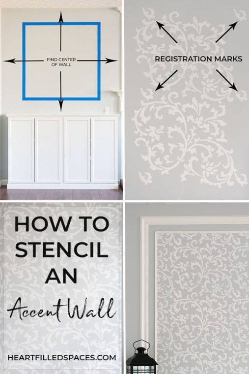 How to stencil a wall with picture frame molding.