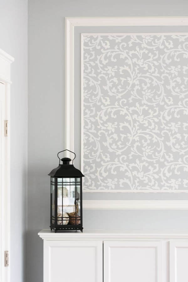 How To Stencil A Beautiful Accent Wall With Moldings