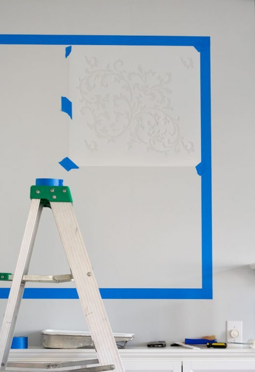 How to stencil a wall.