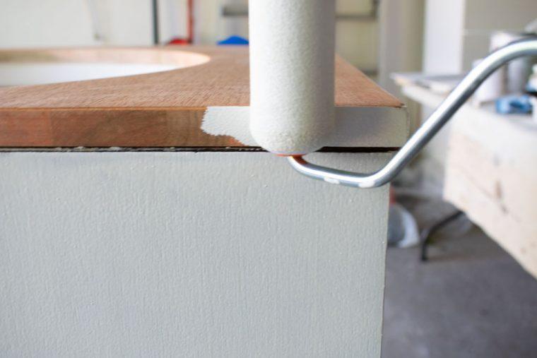 Helpful tips for painting the edge of wood veneer furniture.