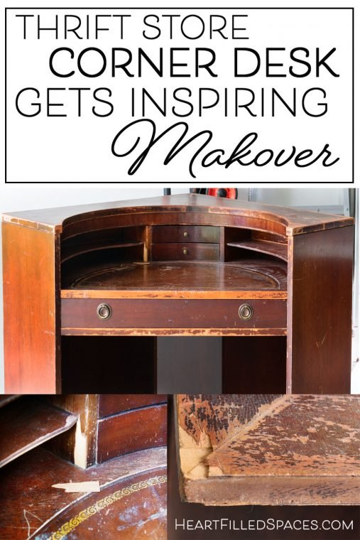How to refinish a corner desk with Bondo, paint, and sanding to a two-tone finish.