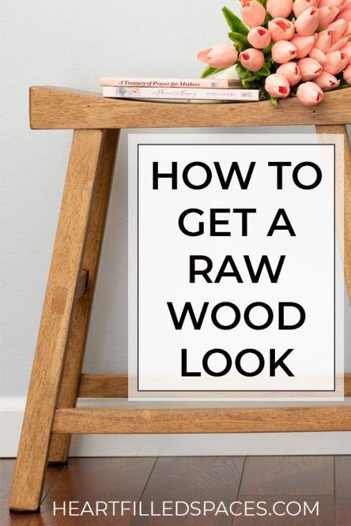 Natural Wood Furniture Look