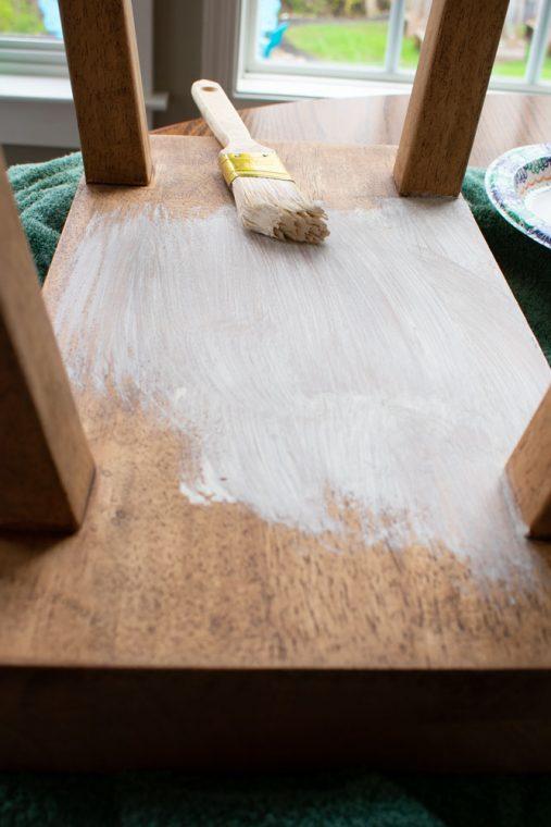 Liming Wax on Bar Stool
