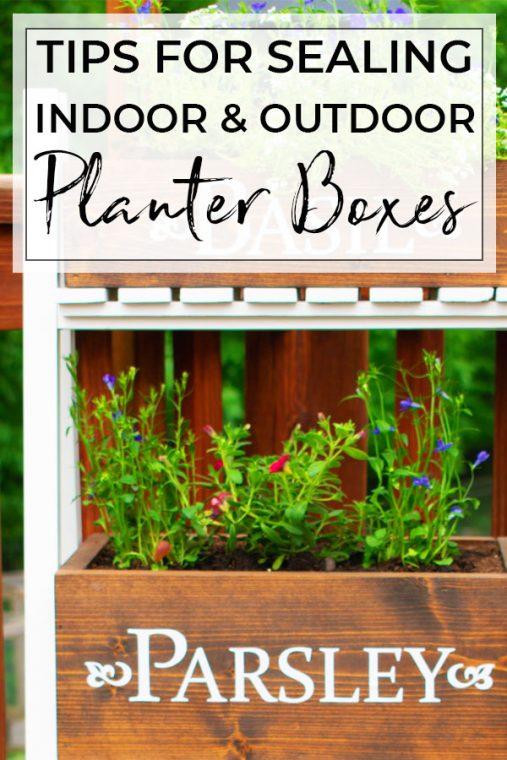 Sealing DIY Wood Planter Boxes