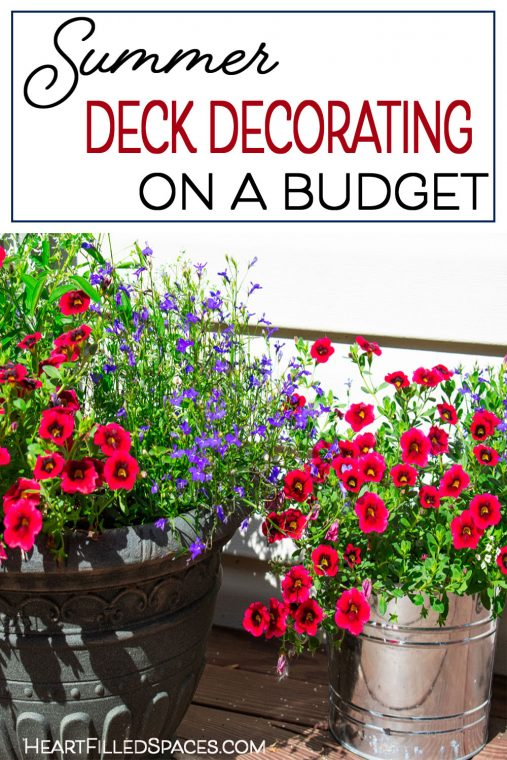How to decorate a deck on a budget.