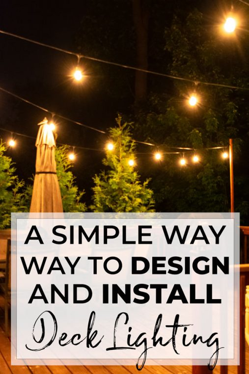 How to hang outdoor string lights.