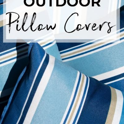 Freshen Up Your Patio Furniture With DIY Outdoor Pillow Covers