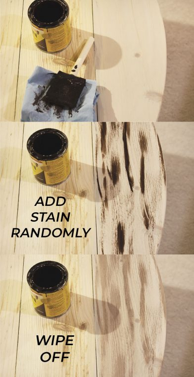 How to paint a wood plank top.