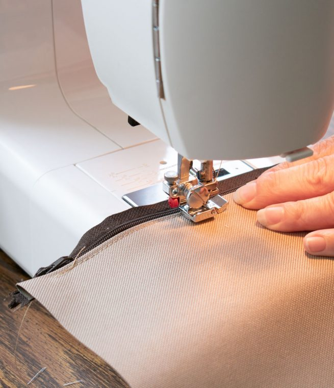 How to sew a zipper when you recover your outdoor cushions.