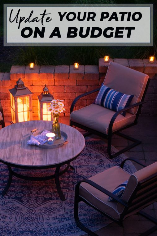 Patio makeover on a budget.