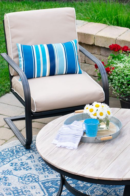 Outdoor patio refresh on a budget.